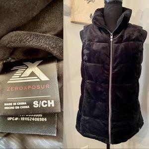 Zeroxposur Black Velvet Ladies Vest
